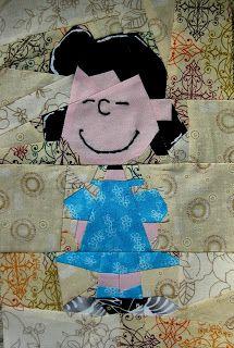 Peanuts, Free paper piecing block