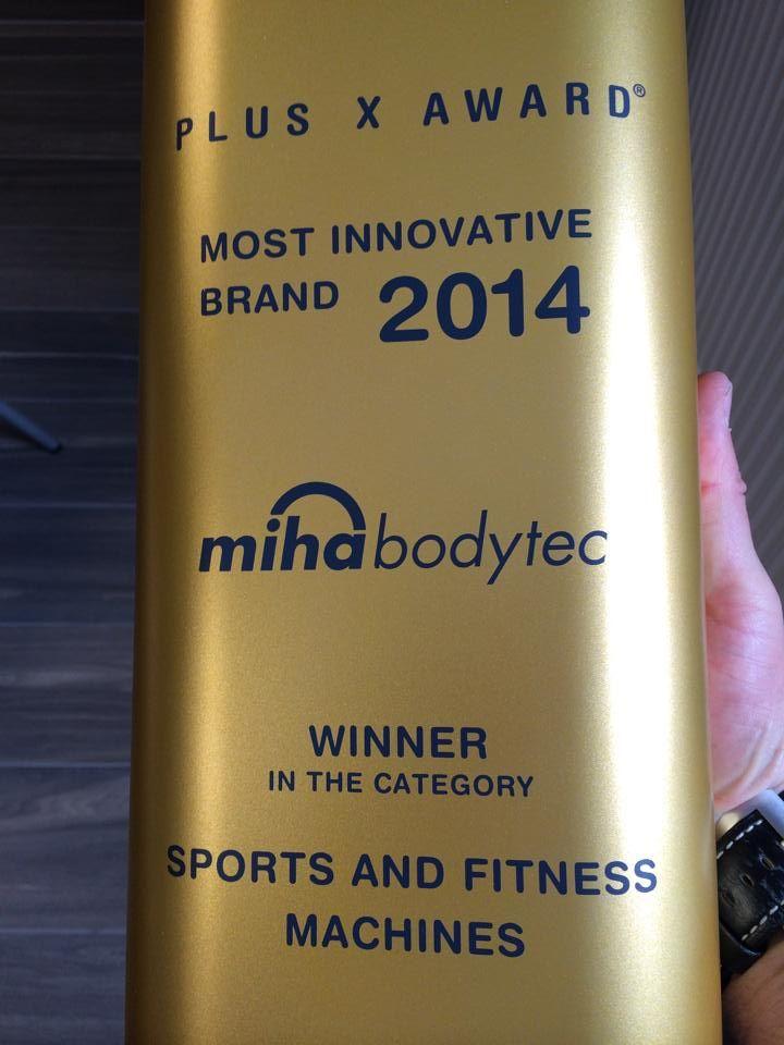 THE OSCAR for #miha bodytec #innovation #plusxaward #madeingermany #EMStraining