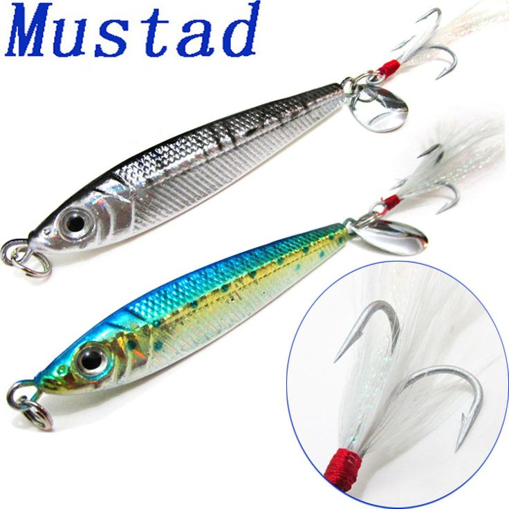 40G Fishing Lure Pencil Fish Artificial Bait With Mustad Freshwater Saltwater Fishing Lures Jig Wobblers la pesca de carpa daiwa