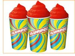 Cherry Slurpee's from 7-11- and all the other flavors. What childhood should taste like, I was addicted to these!