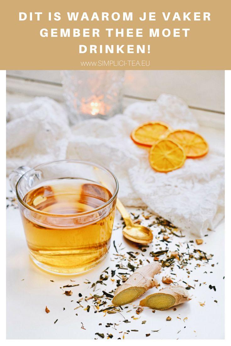 Waarom gember thee gezond is | Drink gember thee voor een gezonde levensstijl | Bestel thee online op www.Simplici-Tea.eu