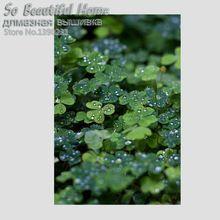 Nuevo Diamante Mosaico decoración escénica hojas Verdes flor DIY punto de Cruz pintura Diamante Cuadrado Bordado costura SH61181(China (Mainland))
