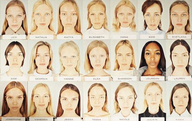 Alexander Wang shows models with no make-up. Fashion Week