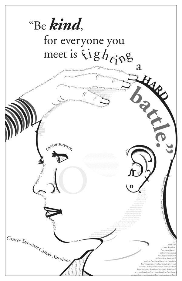 Type Illustration by Michelle Rose, cancer survivor.