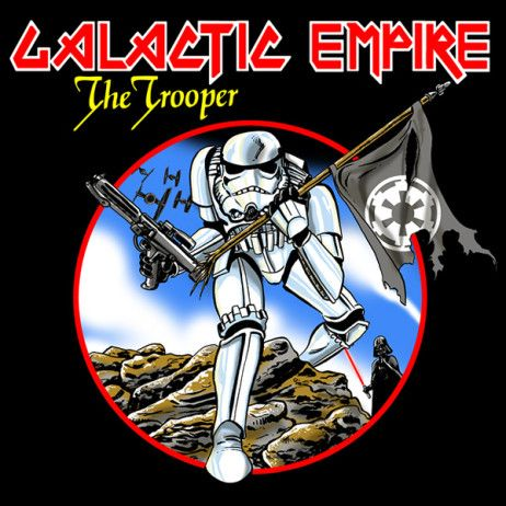 Star Wars: Stormtrooper / Iron Maiden: The Trooper album cover mashup t-shirt.  #starwars #stormtrooper #ironmaiden