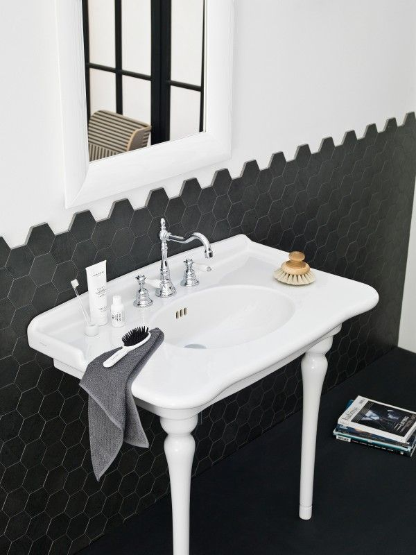 Cool Black And White Tile Bathroom Ating Gallery - Bathroom with ...