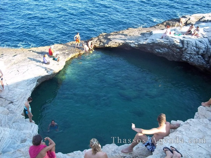 Giola is a great natural pool in Thassos island, in Greece! Enjoy!