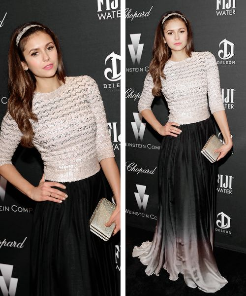 Nina Dobrev attends the Weinstein Company's Academy Award Nominees Dinner on February 21, 2015