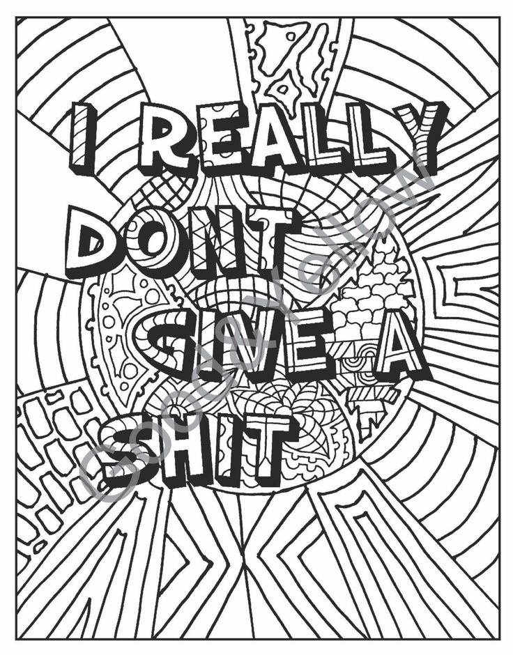 Swear Words Adult Coloring Book Hate Your By LovableLynzi On Etsy