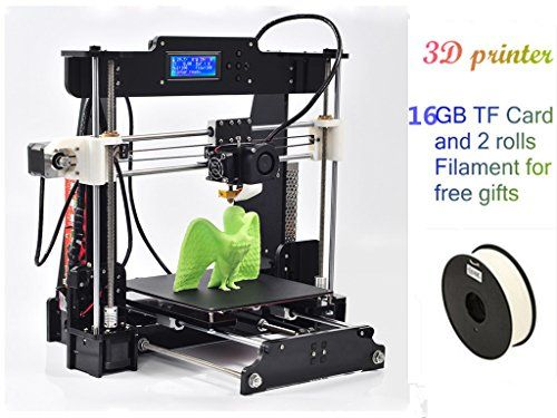3D Printer Kit Full Self-assembly Digital 3D Printer 3D product creator with 2 Rolls Filament 16GB SD card and LCD for Free Gifts DMYY http://www.amazon.co.uk/dp/B01AXZ93PE/ref=cm_sw_r_pi_dp_Vd77wb16T130P