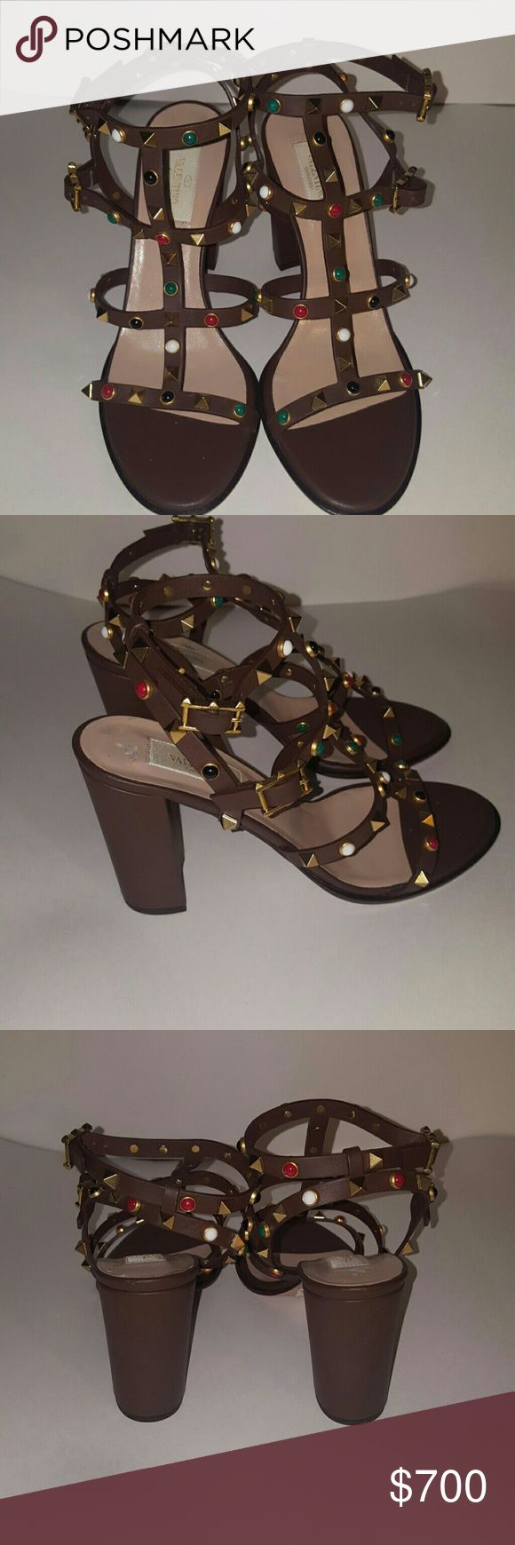SALE RockStud Rolling Sandal Brand New Gorgeous pair of Rock studs Valentino Shoes Heels