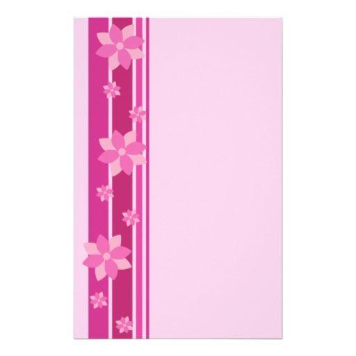 Pink Flowers Stationery #pink #flowers #sakura #japan #cherryblossom