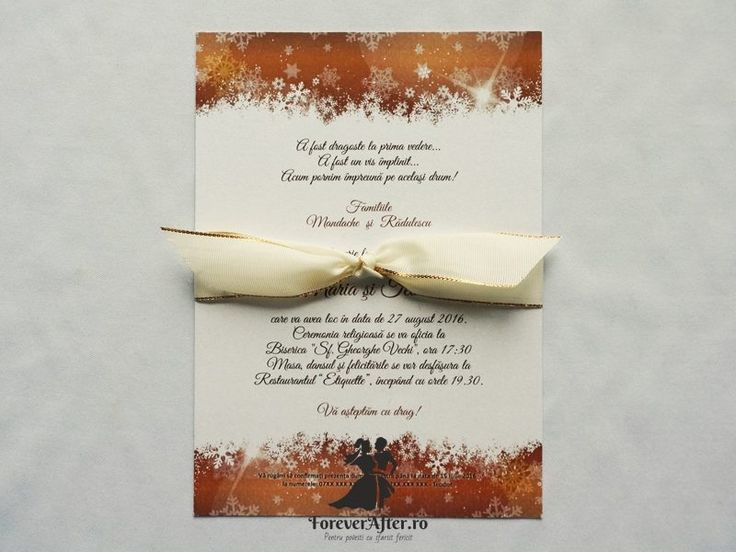 Invitatie de nunta Magia iernii | ForeverAfter.ro
