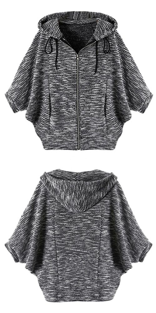 You and this top will be free for life! Designed in casual style and drawstring hooded design, this knitting top is perfect for outings. Don't miss it!