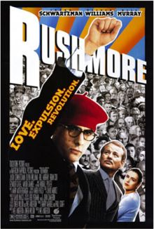 Rushmore is a 1998 comedy-drama film directed by Wes Anderson about an eccentric teenager named Max Fischer (Jason Schwartzman), his friendship with rich industrialist Herman Blume (Bill Murray), and their mutual love for elementary school teacher Rosemary Cross (Olivia Williams). The film was co-written by Anderson and Owen Wilson. The soundtrack was scored by regular Anderson collaborator Mark Mothersbaugh and features several songs by bands associated with the British Invasion of the…