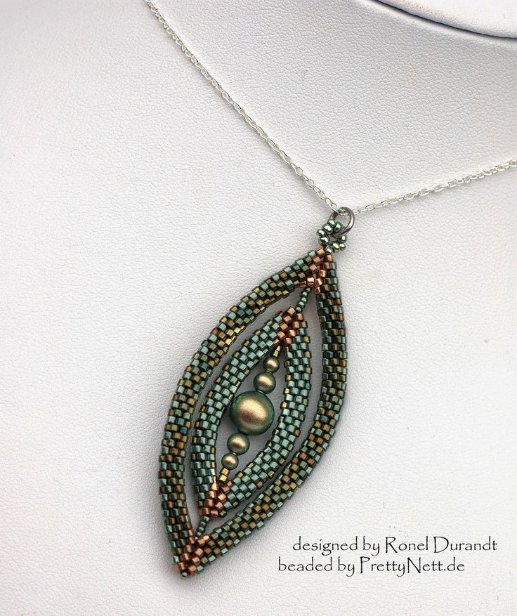 PrettyNett - unique handmade beaded jewelry: Oval Portals - Pendant Anhänger