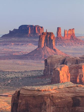 USA, Arizona, View Over Monument Valley from the Top of Hunt's Mesa | Beautiful prints and posters of the world's most amazing places.
