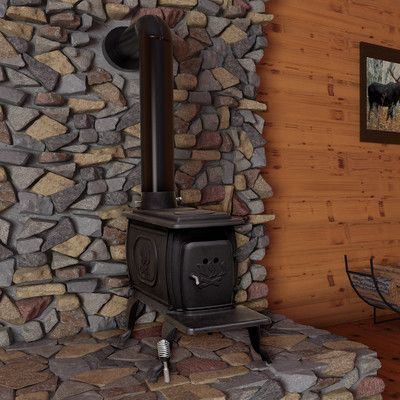 EPA Certified Cast Iron Log 900 Square Foot Wood Stove | Wayfair.ca