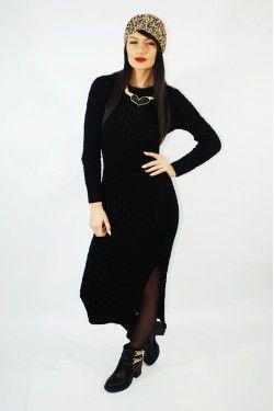 Rochie Soft Melange Black