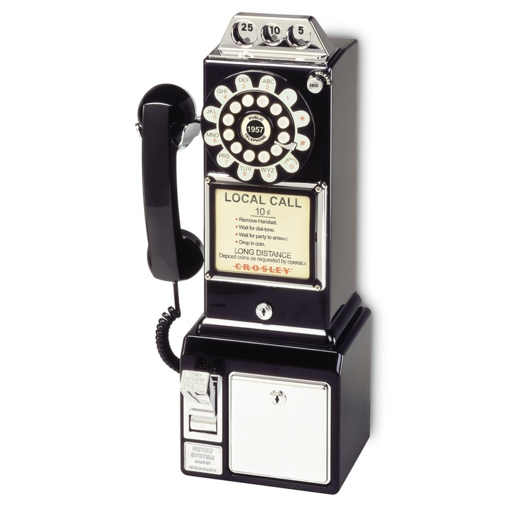 Crosley 1950s Style Pay Phone......blast from the past with modern convenience.