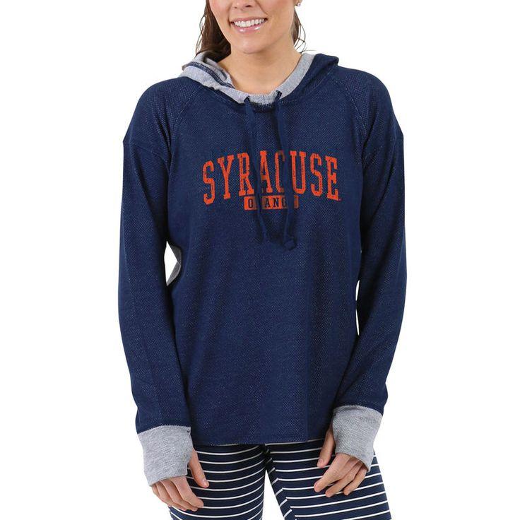 Syracuse Orange Women's Pinhole Cool Down Pullover Hoodie - Navy