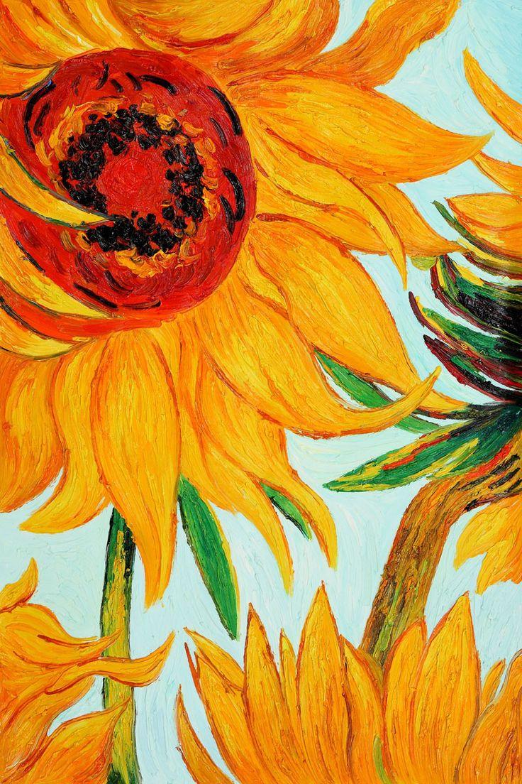 Sunflowers Detail Vincent Van Gogh Vincent Van Gogh