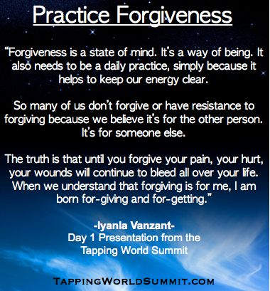 """If you haven't yet, make sure to listen to the amazing presentation from Iyanla Vanzant from Day 1 of the Tapping World Summit called """"The Power of Radical Forgiveness: How to Forgive Everyone for Everything with Tapping"""" (it's available for 4 more hours before Day 2 starts):  http://thetappingsolution.com/2014event/ #EFT #Tapping #TappingWorldSummit"""