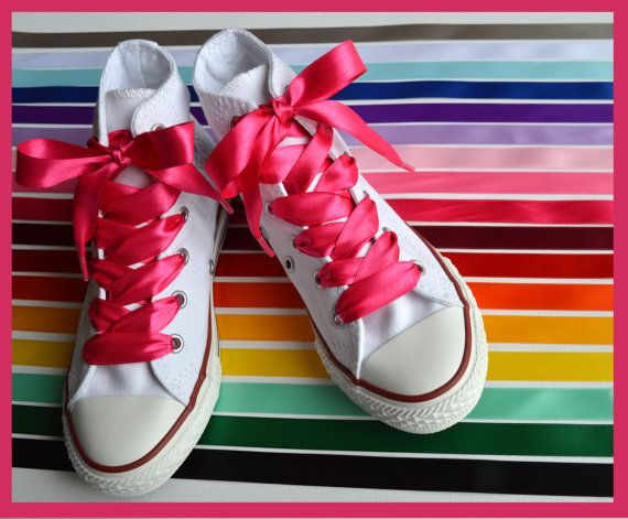 Children and adult Satin Ribbon Shoe Laces for by BeressyArt