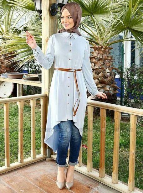 Model Baju Muslim Asimetris