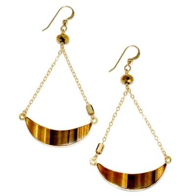 TOODLEBUNNY - Tiger Moon Earrings