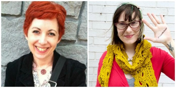 Diane Gilleland and Haley Pierson-Cox on the While She Naps Podcast, with Abby Glassenberg
