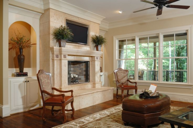 Beautiful Room With Marble Fireplace Home Upgrades And