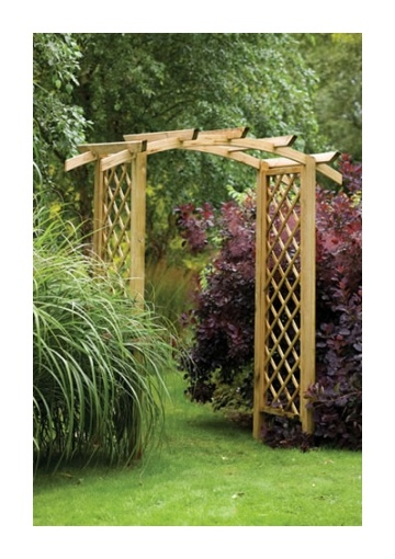 34 best images about arches on pinterest wrought iron for Timber garden arch designs