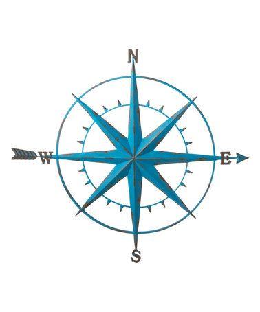 Distressed Blue Compass Wall Décor #zulily #zulilyfinds