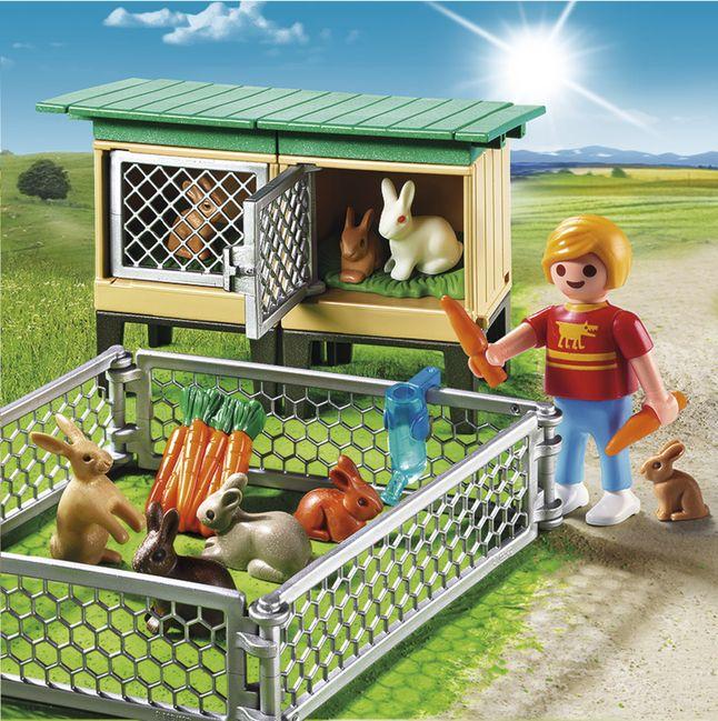 Afbeelding van Playmobil Country 6140 Konijnenhok met buitenren from DreamLand