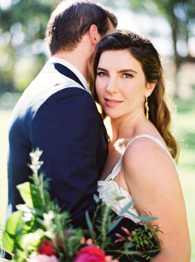 These coworkers fell in love: http://www.stylemepretty.com/2016/08/22/colorful-palm-springs-wedding-2/ Photography: Erich McVey - http://www.erichmcvey.com/