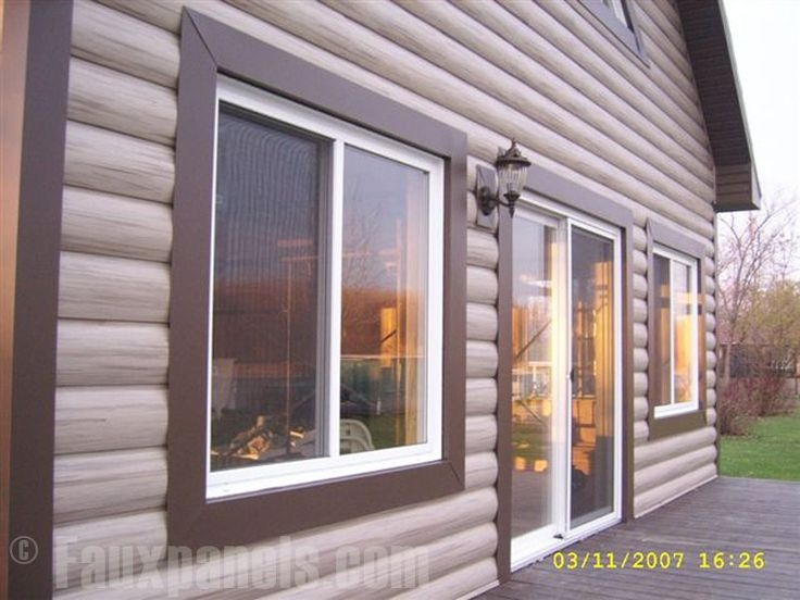 Exceptional Log Siding Options #9: Vinyl Log Siding Is A Spin On Traditional Siding Options. These Durable,  Simulated Log Panels Mimic Classic Cabin Construction Without The Weight Or  Cost.