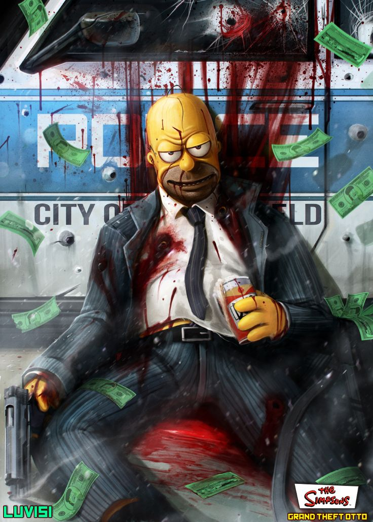 Homer - Grand Theft Otto - The Simpsons - Dan LuVisi