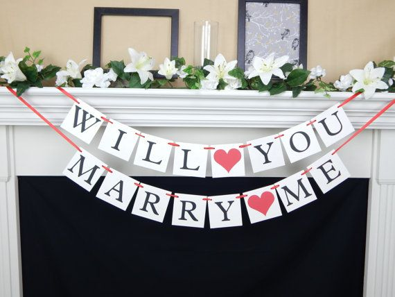 Will you marry me proposal banner Perfect for surprise engagement parties by CelebratingTogether