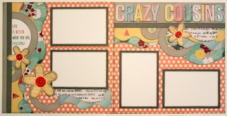 Adorable scrapbook pages, two page layout with great paper selections