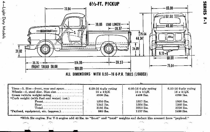 Chassis diagram 1948 ford truck, 1952 ford truck, Ford