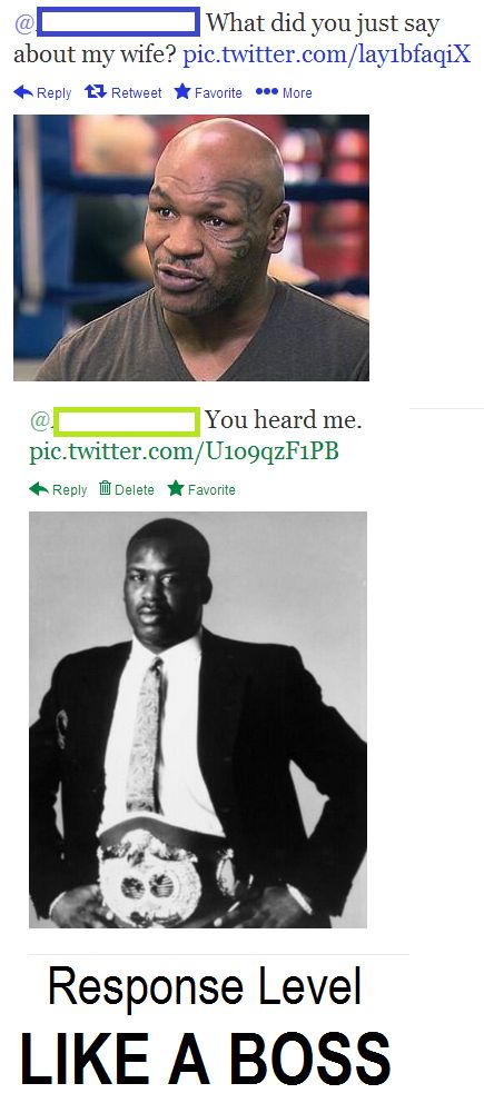 Twitter Response | Like a Boss | Funny, Humor | Mike Tyson and James Buster Douglas | Knockout