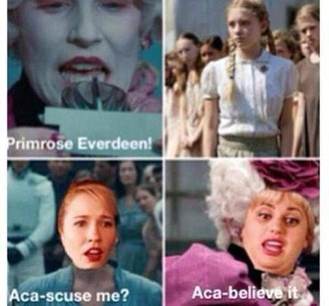 Hunger Games and Pitch Perfect