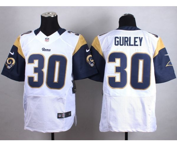 70624e433 st.louis rams 30 todd gurley ii white mens nfl pro line fashion game ...