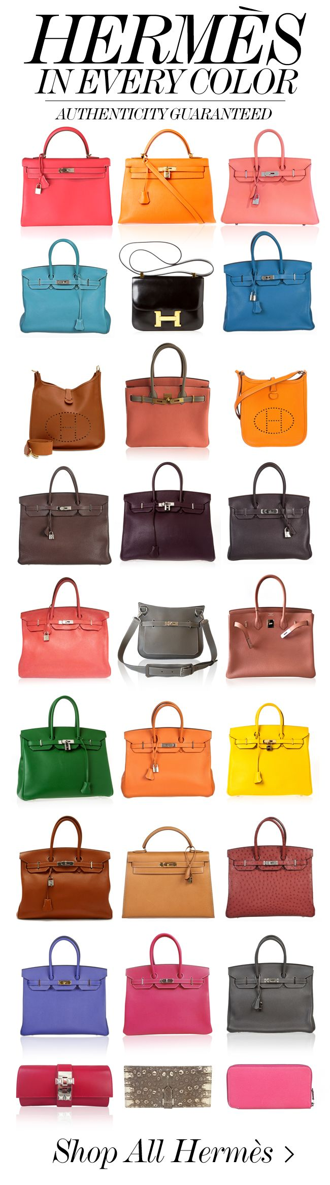 A Birkin & Kelly in every color!