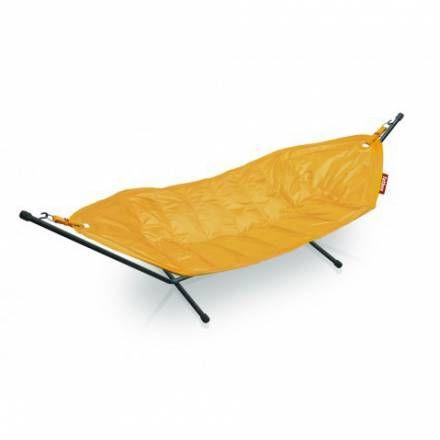 Hamac Fatboy jaune avec support – En vente sur Pouf-Design