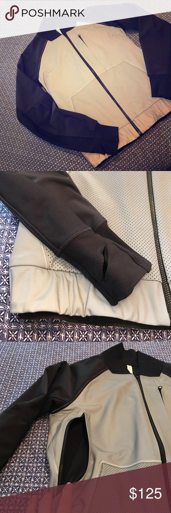Black/Grey Lululemon Reflective Running Jacket