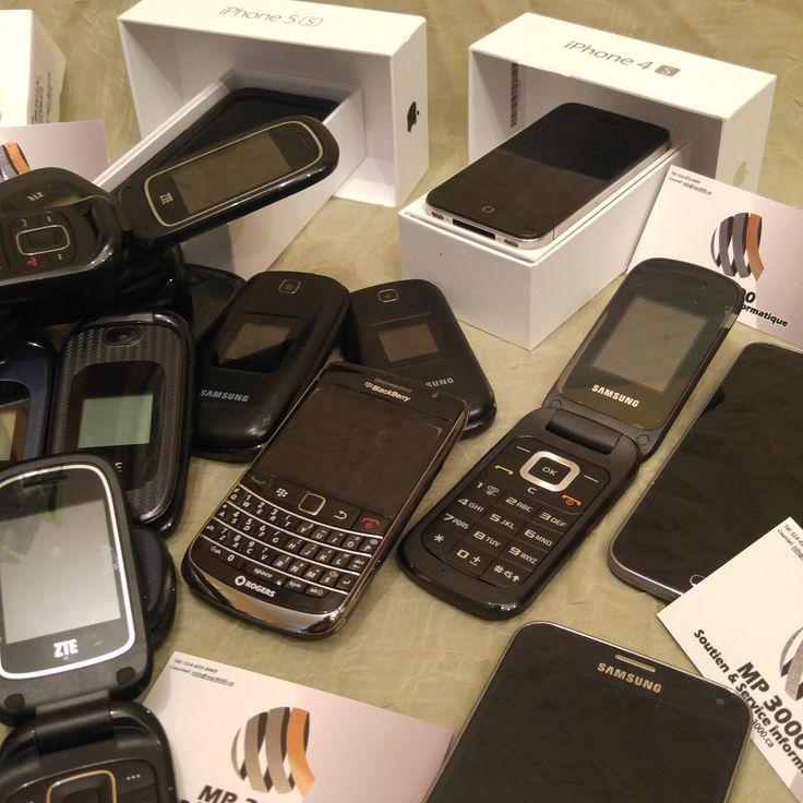 Plusieurs Cellulaires en vente Chez MP3000 ZTE Z222 (Flip)  Samsung C414 Blackberry Bold  Samsung Galaxy S5 NEO  Samsung Galaxy S4 Iphone 5S 16GB IPhone 4s  Etc.… Pour les prix voir le site web :   https://mp3000.ca/boutique/  Usagé testé 100% DÉBARRÉ Garantie 60 jours MP3000 Soutien et Service Informatique  514-433-8469 #mp3000
