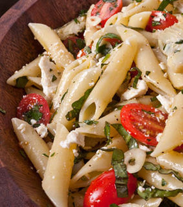 Cold Pasta Salad With Baby Artichokes Pinninos Kin
