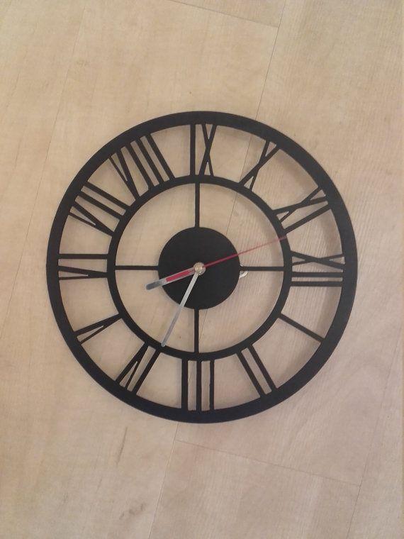 Metal tower style clock/ vintage/ loft/art deco/ industrial/gotic/ boho/  shabby shic/ retro/ oldschool/ steel/ iron/ wall/ cottage